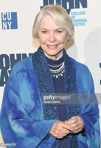 Actress Ellen Burstyn attends the 2016 John Jay Medal For Justice Award at Gerald W Lynch Theater on March 3 2016 in New York City
