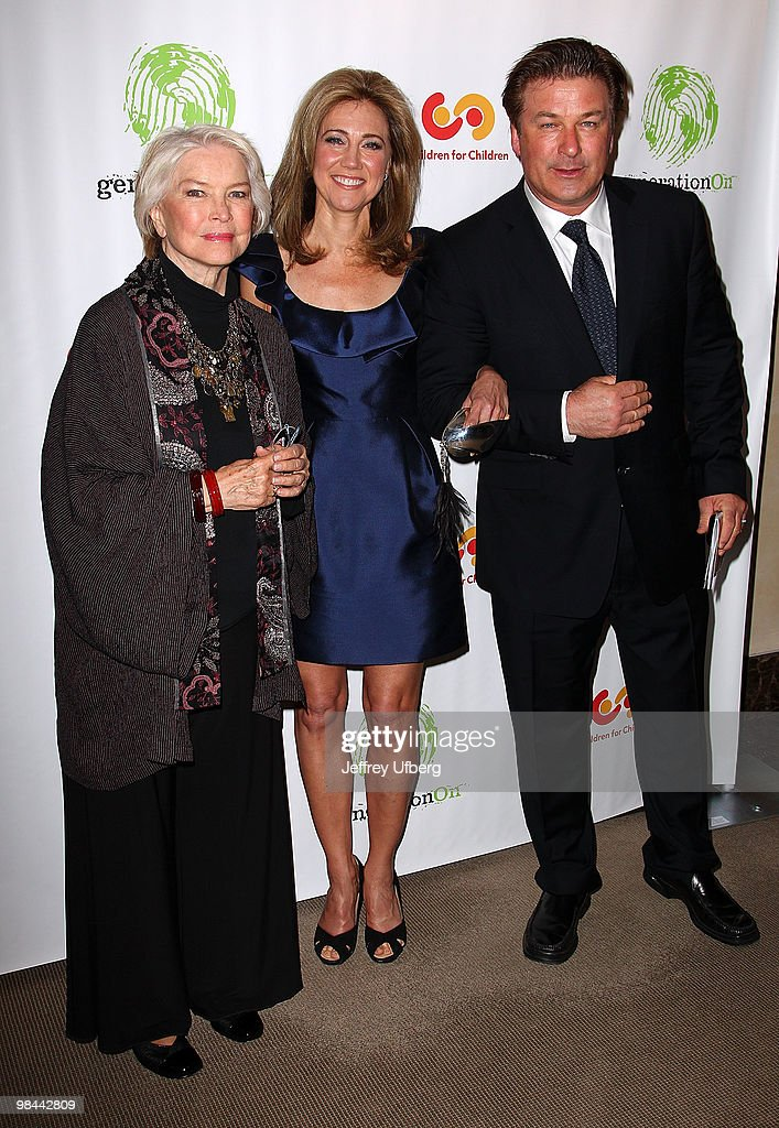 Actress Ellen Burstyn Silda Spitzer and Actor Alec Baldwin attend the 9th annual The Art Of Giving benefit by Children For Children at Christie's on...