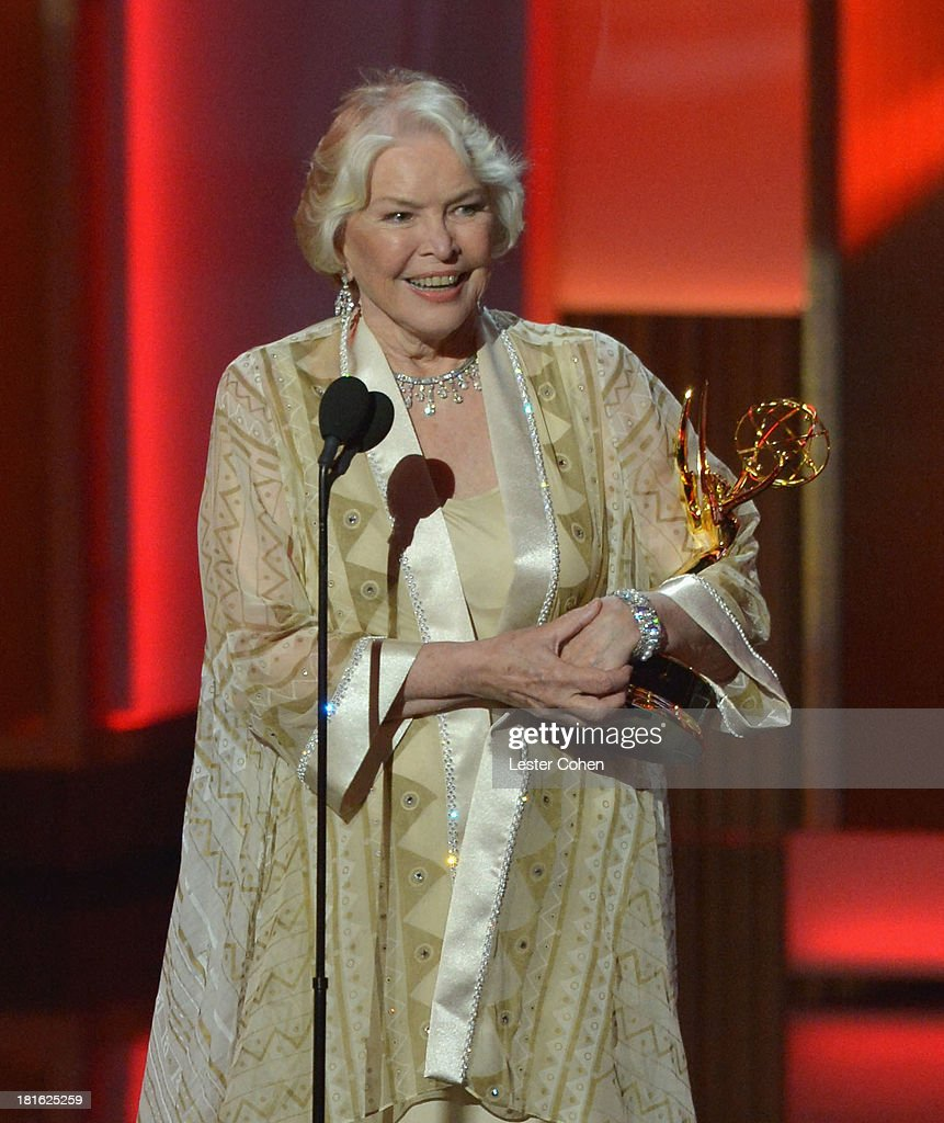 Actress Ellen Burstyn speaks onstage during the 65th Annual Primetime Emmy Awards held at Nokia Theatre L.A. Live on September 22, 2013 in Los Angeles, California.