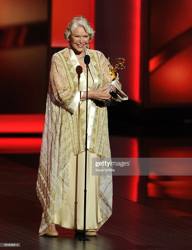 Actress Ellen Burstyn, winner of Outstanding Supporting Actress in a Miniseries or Movie for 'Political Animals,' speaks onstage during the 65th Annual Primetime Emmy Awards held at Nokia Theatre L.A. Live on September 22, 2013 in Los Angeles, California.