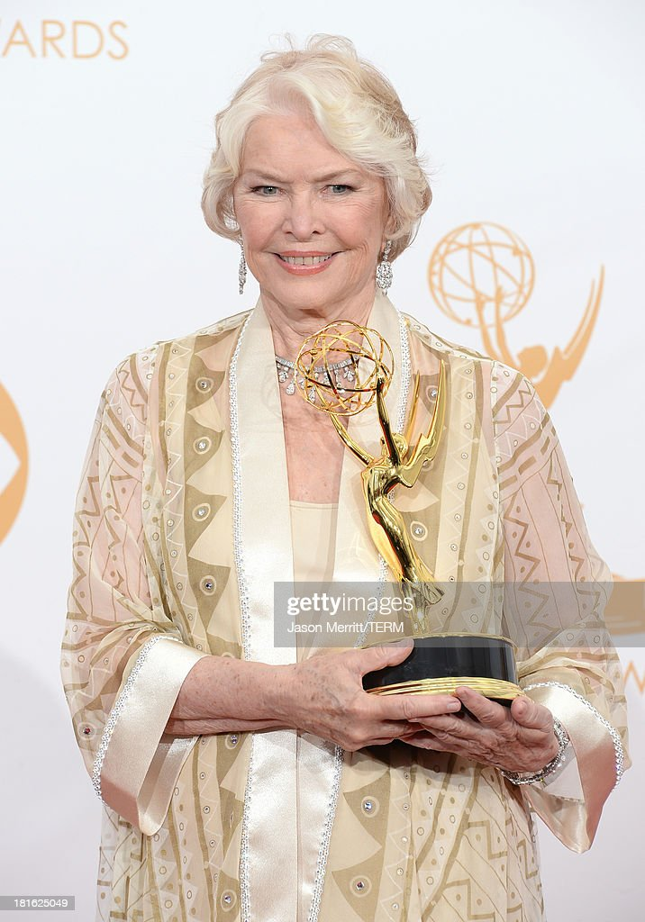 Actress Ellen Burstyn, winner of the Best Supporting Actress in a Miniseries or Movie Award for 'Political Animals' poses in the press room during the 65th Annual Primetime Emmy Awards held at Nokia Theatre L.A. Live on September 22, 2013 in Los Angeles, California.