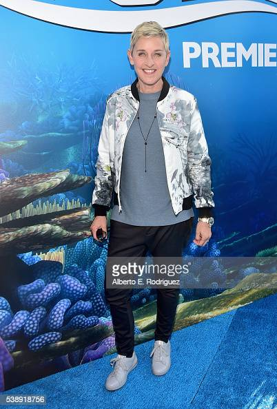 Actress Ellen DeGeneres attends The World Premiere of DisneyPixar's FINDING DORY on Wednesday June 8 2016 in Hollywood California