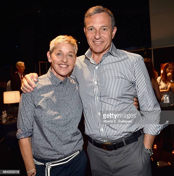 Actress Ellen DeGeneres of FINDING DORY and The Walt Disney Company Chairman and CEO Bob Iger took part today in 'Pixar and Walt Disney Animation...