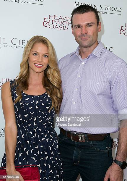 Actress Ellen Hollman and actor Stephen Dunlevy attend the Heaven and Earth Oasis Charity fundraiser at Il Cielo on October 11 2014 in Beverly Hills...