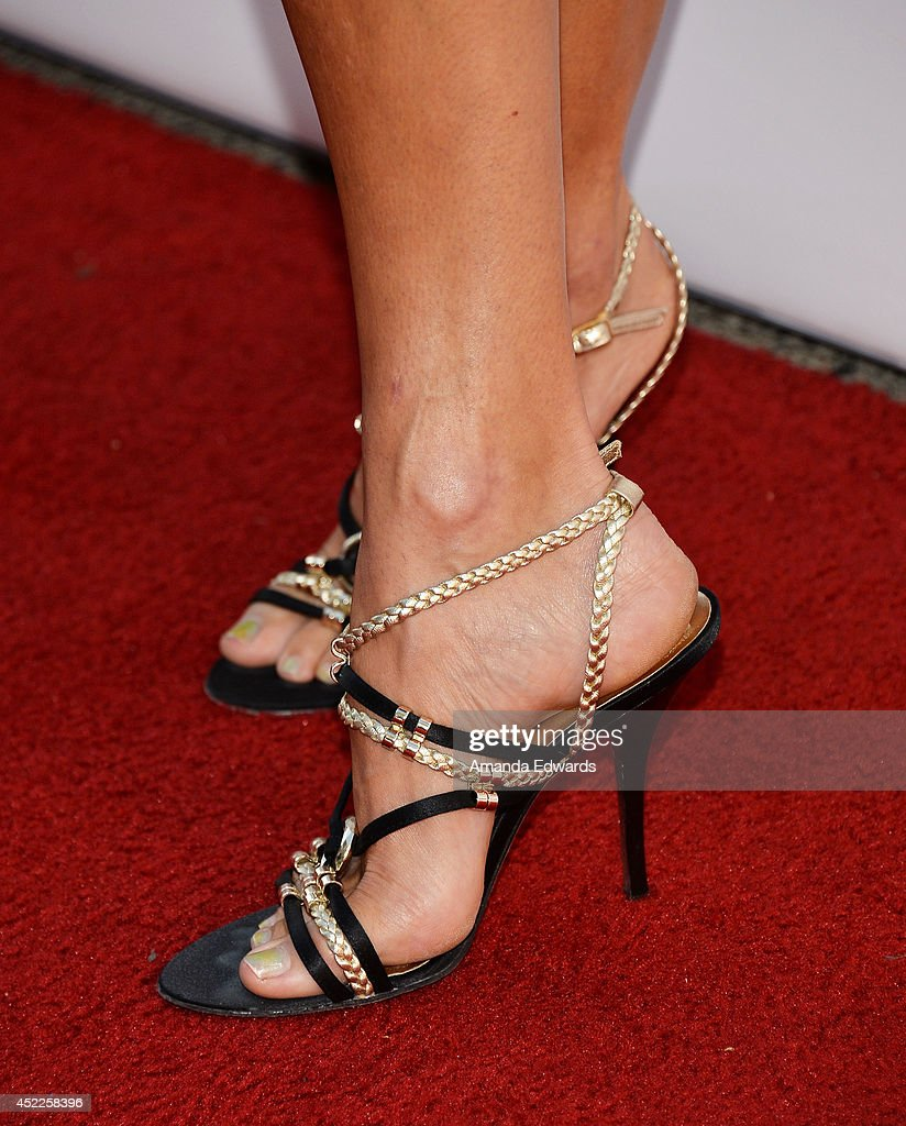 Actress Ellen Hollman (shoe detail) arrives at the 4th Annual Variety - The Children's Charity of Southern CA Texas Hold 'Em Poker Tournament at Paramount Studios on July 16, 2014 in Hollywood, California.