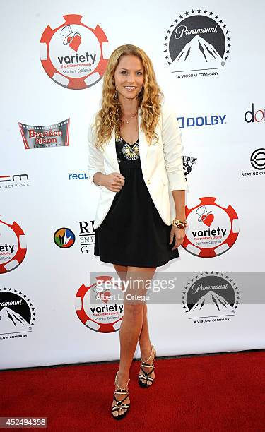 Actress Ellen Hollman arrives for the 4th Annual Variety The Children's Charity Of Southern CA Texas Hold 'Em Poker Tournament held at Paramount...