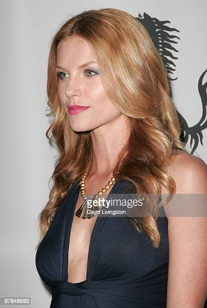 Actress Ellen Hollman attends Ferrari's charity auction of it's 1st Ferrari 458 Italia in North America at Fleur de Lys on March 18 2010 in Los...