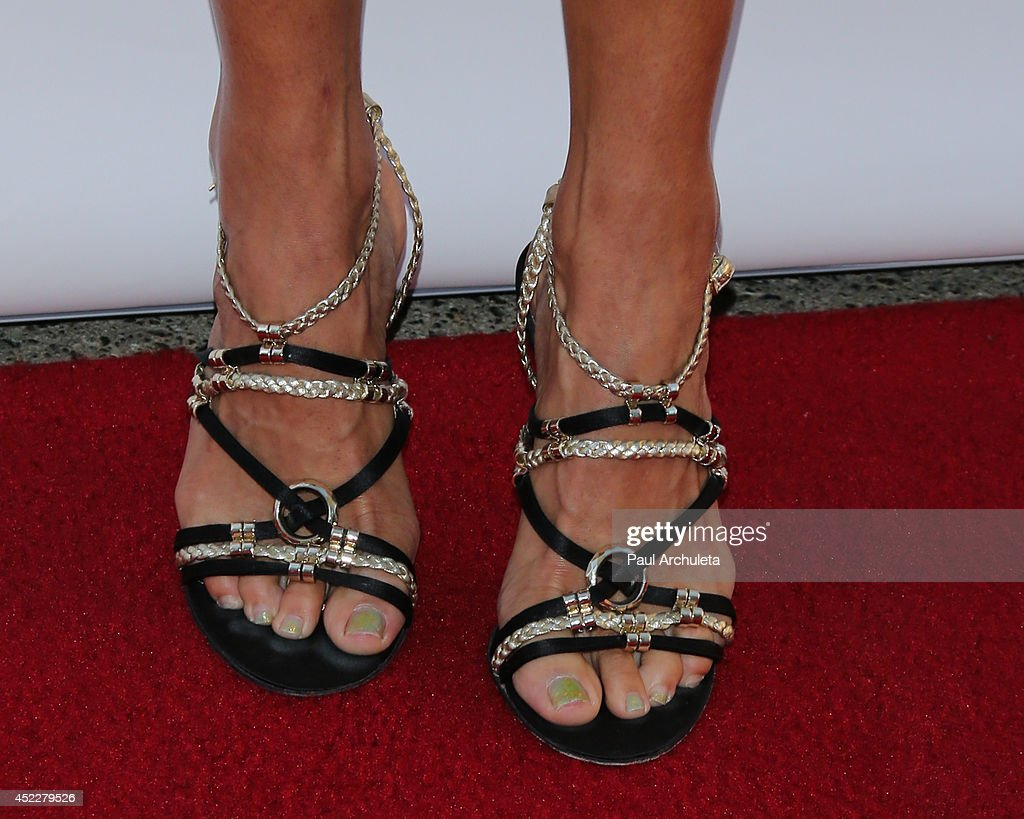 Actress Ellen Hollman (Shoe Detail) attends the 4th annual Variety's Texas Hold 'Em poker tournament at to benefit 'The Children's Charity Of Southern California' at Paramount Studios on July 16, 2014 in Hollywood, California.