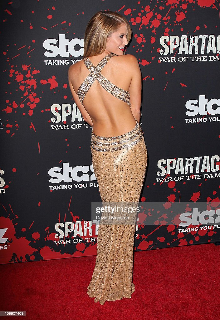 Actress Ellen Hollman attends the premiere of Starz's 'Spartacus: War of the Damned' at Regal Cinemas L.A. Live on January 22, 2013 in Los Angeles, California.