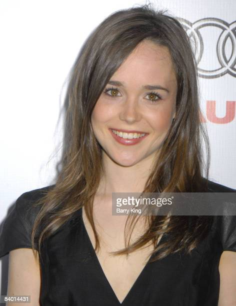 Actress Ellen Page arrives at the 2008 AFI Film Festival screening of 'Defiance' held at ArcLight Cinemas on November 9 2008 in Hollywood California