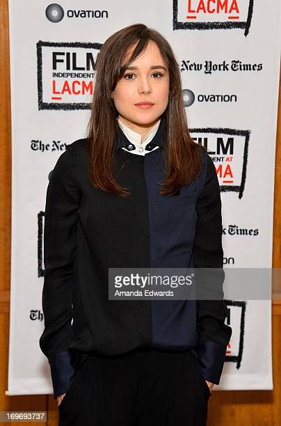 Actress Ellen Page attends a Film Independent At LACMA special screening of 'The East' at Bing Theatre At LACMA on May 30 2013 in Los Angeles...