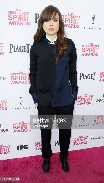 Actress Ellen Page attends the 2013 Film Independent Spirit Awards at Santa Monica Beach on February 23 2013 in Santa Monica California