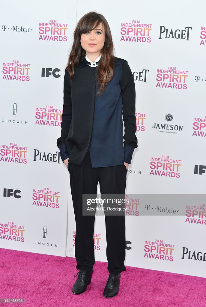 Actress Ellen Page attends the 2013 Film Independent Spirit Awards at Santa Monica Beach on February 23, 2013 in Santa Monica, California.