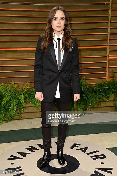 Actress Ellen Page attends the 2014 Vanity Fair Oscar Party hosted by Graydon Carter on March 2 2014 in West Hollywood California