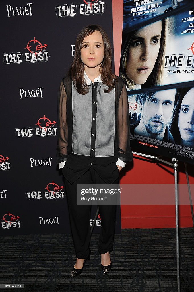 Actress Ellen Page attends 'The East' premiere at Landmark's Sunshine Cinema on May 20, 2013 in New York City.