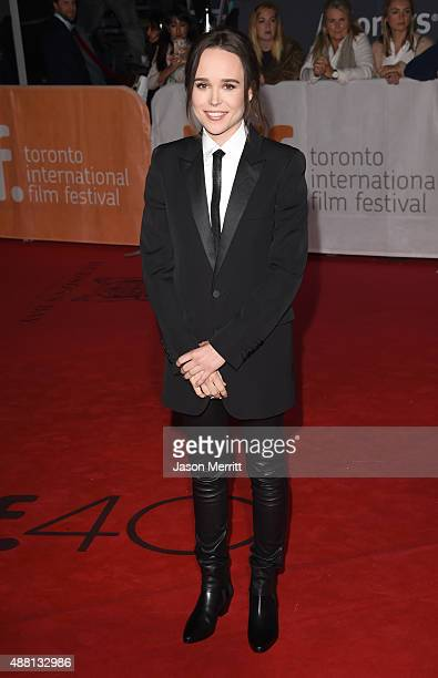 Actress Ellen Page attends the 'Freeheld' premiere during the 2015 Toronto International Film Festival at Roy Thomson Hall on September 13 2015 in...