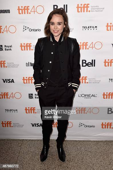 Actress Ellen Page attends the 'Into the Forest' premiere during the 2015 Toronto International Film Festival at The Elgin on September 12 2015 in...