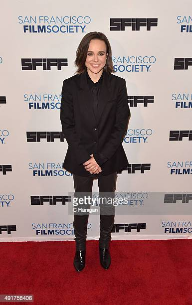 Actress Ellen Page attends the premiere screening of 'Freeheld' at Castro Theater on October 7 2015 in San Francisco California