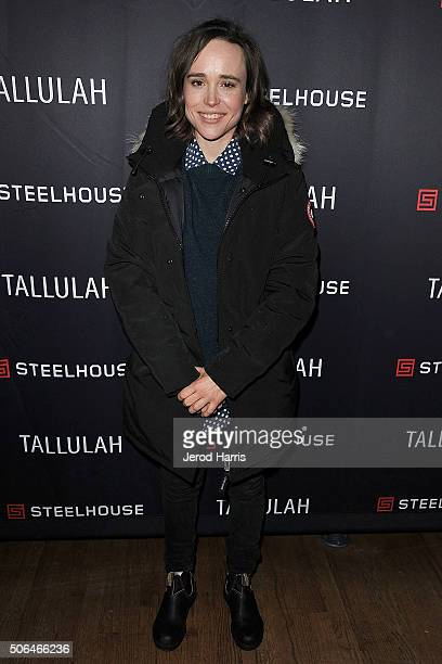 Actress Ellen Page attends the SteelHouse Hosted Tallulah Cocktail Party at Sundance on January 23 2016 in Park City Utah