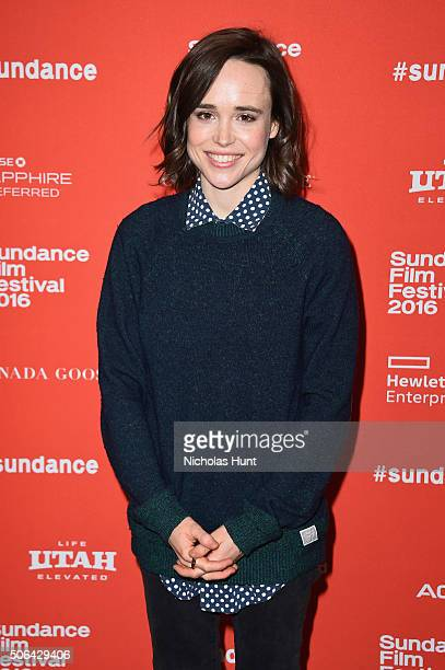 Actress Ellen Page attends the 'Tallulah' Premiere during the 2016 Sundance Film Festival at Eccles Center Theatre on January 23 2016 in Park City...