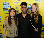 Actress Ellen Page director Zal Batmanglij and actress Britt Marling attend the premiere of 'The East' during the 2013 SXSW Music Film Interactive...