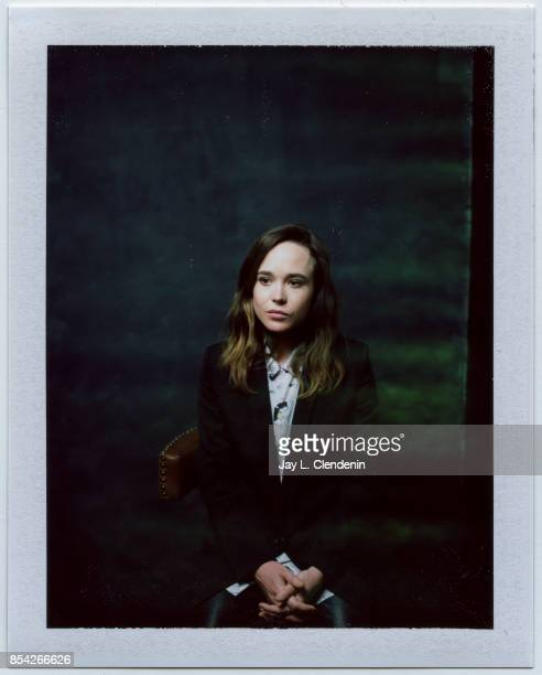 Actress Ellen Page from the film 'The Cured' is photographed on polaroid film at the LA Times HQ at the 42nd Toronto International Film Festival in...