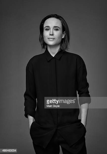 Actress Ellen Page is photographed for Back Stage on August 4 in New York City PUBLISHED COVER