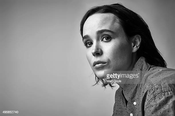 Actress Ellen Page is photographed for Back Stage on August 4 in New York City