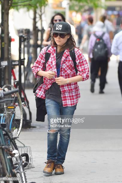 Actress Ellen Page is seen on June 18 2014 in New York City