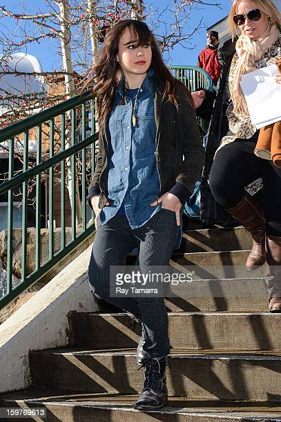 Actress Ellen Page leaves the Wireimage portrait studio on January 19 2013 in Park City Utah