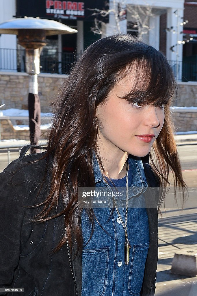 Actress Ellen Page leaves the Wireimage portrait studio on January 19, 2013 in Park City, Utah.