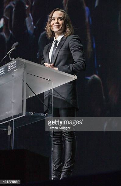 Actress Ellen Page speaks at the 19th Annual HRC National Dinner at Walter E Washington Convention Center on October 3 2015 in Washington DC