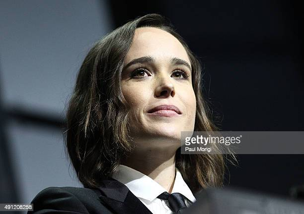 Actress Ellen Page speaks at the 19th Annual HRC National Dinner after receiving the HRC National Vanguard Award at the Walter E Washington...