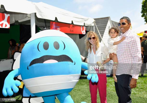 Actress Ellen Pompeo and Chris Ivery with daughter Stella Ivery attend the 1st Annual Children Mending Hearts Style Sunday on June 9 2013 in Beverly...