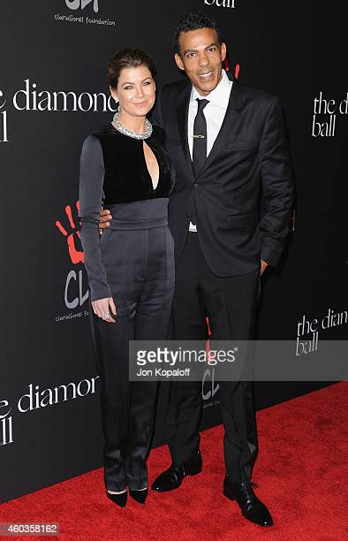 Actress Ellen Pompeo and husband Chris Ivery arrive at Rihanna's First Annual Diamond Ball at The Vineyard on December 11 2014 in Beverly Hills...