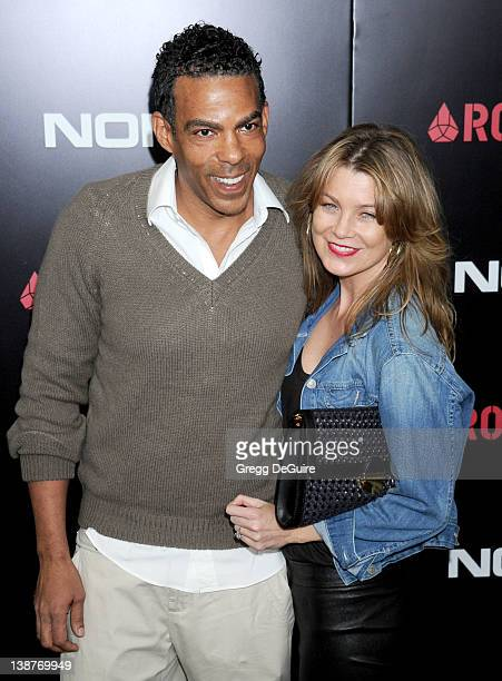 Actress Ellen Pompeo and husband Chris Ivery arrive at Roc Nation PreGrammy Brunch at Soho House on February 11 2012 in West Hollywood California