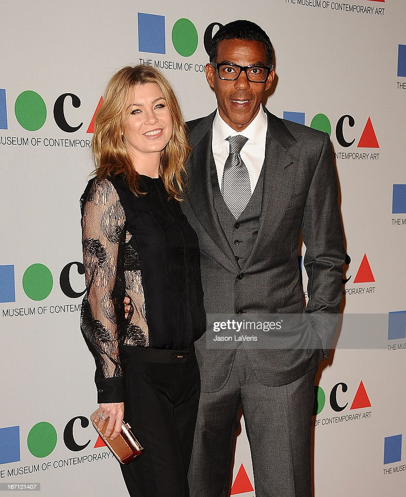 Actress <a gi-track='captionPersonalityLinkClicked' href=/galleries/search?phrase=Ellen+Pompeo&family=editorial&specificpeople=240269 ng-click='$event.stopPropagation()'>Ellen Pompeo</a> and husband <a gi-track='captionPersonalityLinkClicked' href=/galleries/search?phrase=Chris+Ivery&family=editorial&specificpeople=4109706 ng-click='$event.stopPropagation()'>Chris Ivery</a> attend the 2013 MOCA Gala at MOCA Grand Avenue on April 20, 2013 in Los Angeles, California.