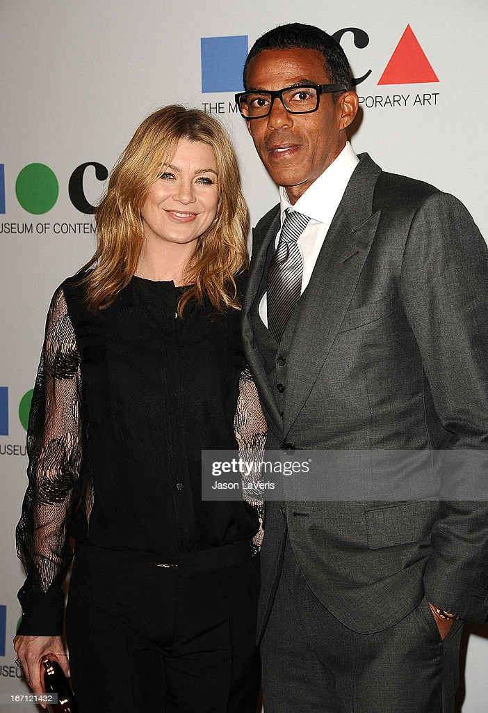 Actress Ellen Pompeo and husband Chris Ivery attend the 2013 MOCA Gala at MOCA Grand Avenue on April 20, 2013 in Los Angeles, California.