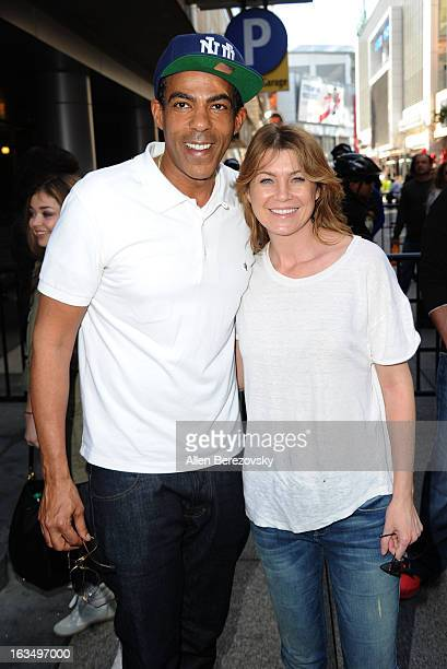Actress Ellen Pompeo and husband Chris Ivery attend the Lakers Casino Night fundraiser benefiting the Lakers Youth Foundation at Club Nokia on March...