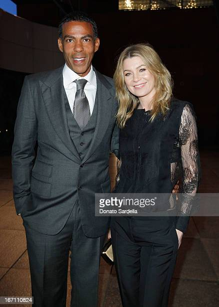 "Actress Ellen Pompeo and husband Chris Ivery attend ""Yesssss"" MOCA Gala 2013 Celebrating the Opening of the Exhibition Urs Fischer at MOCA Grand..."