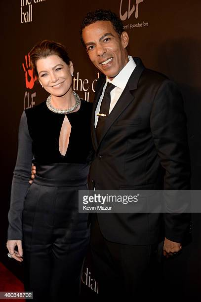 Actress Ellen Pompeo and music producer Chris Ivery attends The Inaugural Diamond Ball presented by Rihanna and The Clara Lionel Foundation at The...