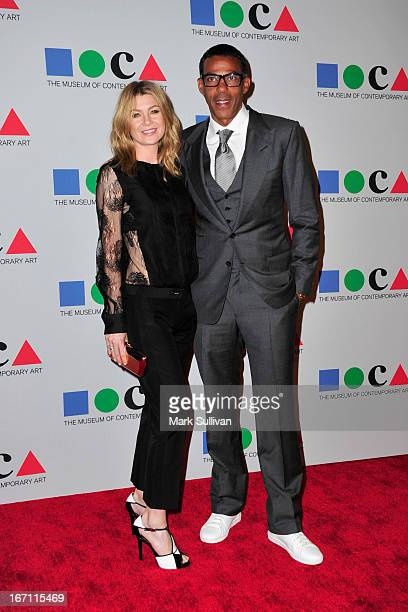 Actress Ellen Pompeo and producer Chris Ivery arrive for 'Yesssss' 2013 MOCA Gala Celebrating The Opening Of The Exhibition Urs Fischer at MOCA Grand...