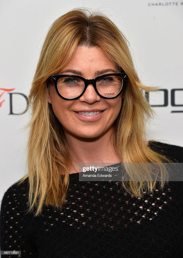Actress <a gi-track='captionPersonalityLinkClicked' href=/galleries/search?phrase=Ellen+Pompeo&family=editorial&specificpeople=240269 ng-click='$event.stopPropagation()'>Ellen Pompeo</a> arrives at the Council Of Fashion Designers Of America's 4th Annual Design Series For Vogue Eyewear party on January 14, 2014 in Beverly Hills, California.