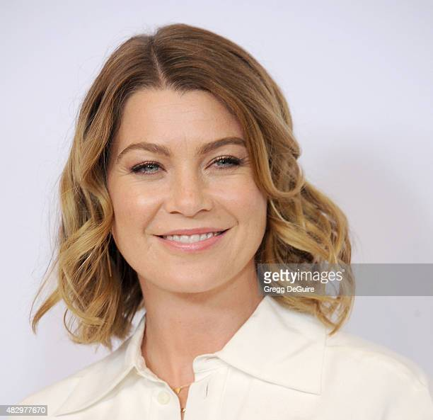Actress Ellen Pompeo arrives at the Disney ABC Television Group's 2015 TCA Summer Press Tour on August 4 2015 in Beverly Hills California