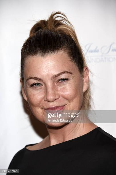 Actress Ellen Pompeo arrives at the Sunday Matinee Of 'Turn Me Loose' at the Wallis Annenberg Center for the Performing Arts on October 15 2017 in...