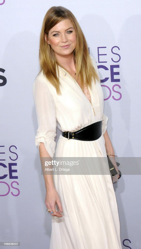 Actress Ellen Pompeo arrives for the 34th Annual People's Choice Awards - Arrivals held at Nokia Theater at L.A. Live on January 9, 2013 in Los Angeles, California.