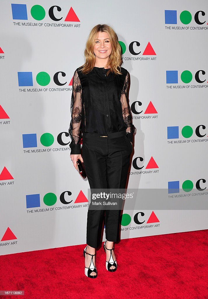 Actress Ellen Pompeo arrives for 'Yesssss!' 2013 MOCA Gala, Celebrating The Opening Of The Exhibition Urs Fischer at MOCA Grand Avenue on April 20, 2013 in Los Angeles, California.