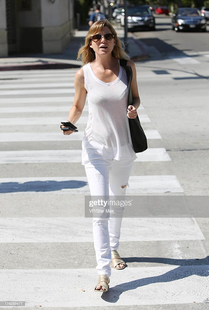 Actress Ellen Pompeo as seen on July 22, 2013 in Los Angeles, California.