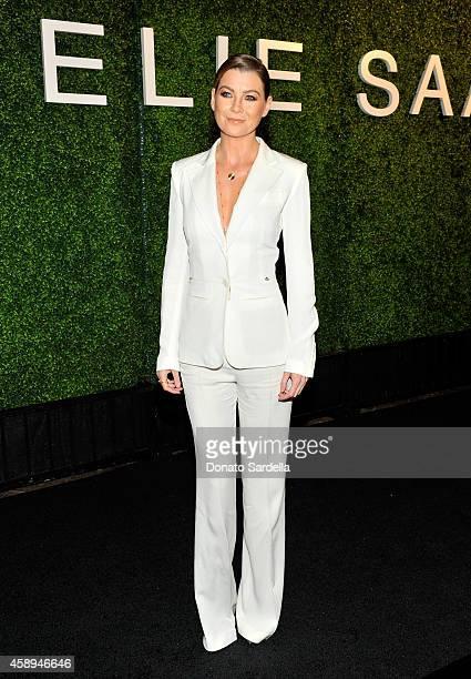 Actress Ellen Pompeo attends a private Elie Saab dinner on November 13 2014 in Los Angeles California #ElieSaabLA