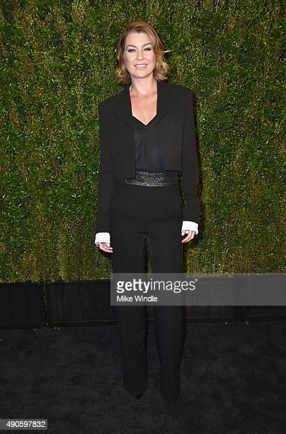 Actress Ellen Pompeo attends CHANEL Dinner in Honor of Baby2Baby at CHANEL Boutique on September 29 2015 in Los Angeles California